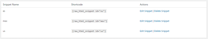 html-snippets