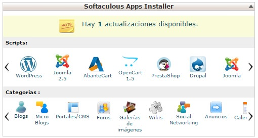 Softaculous cPanel